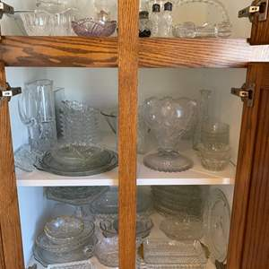 Lot # 264 - Vintage cut crystals and pressed glass