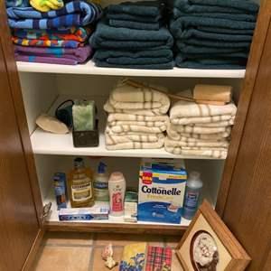 Lot # 273 - Bath towels, bath products, and beach towels