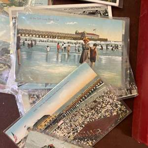 Lot # 275 - Vintage postcards and silk screened book
