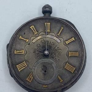 Lot # 327 - Coin silver pocket watch (not running)