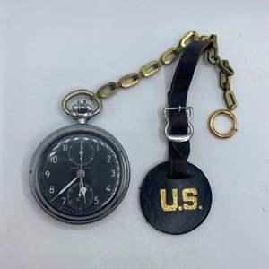 Lot # 342 - Hamilton 19 Jewel US Army watch model 23, SN P27218