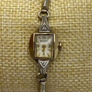 Lot # 346 - Bolivia Goldfilled watch with diamonds