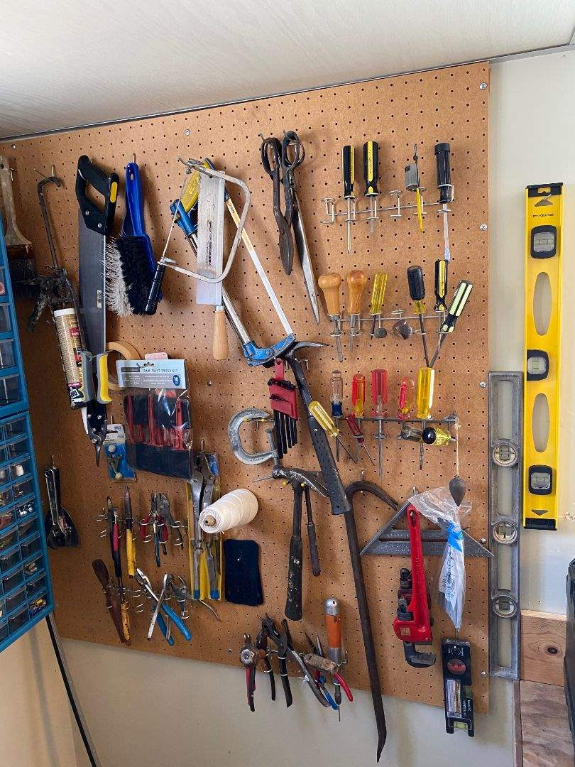 Lot # 150 - WALL OF TOOLS (main image)