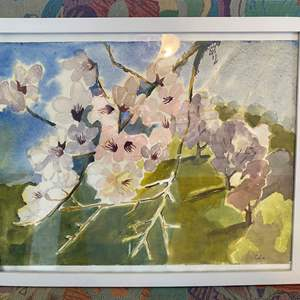 Auction Thumbnail for: Lot # 76 - ORIGINAL WATERCOLOR BY MARY R. COLE