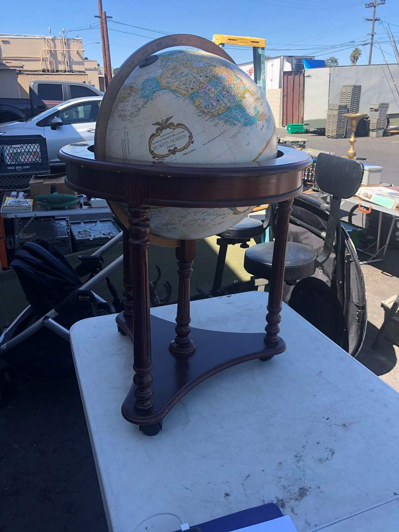 Lot # 11 - STANDING GLOBE WITH WHEELS (main image)