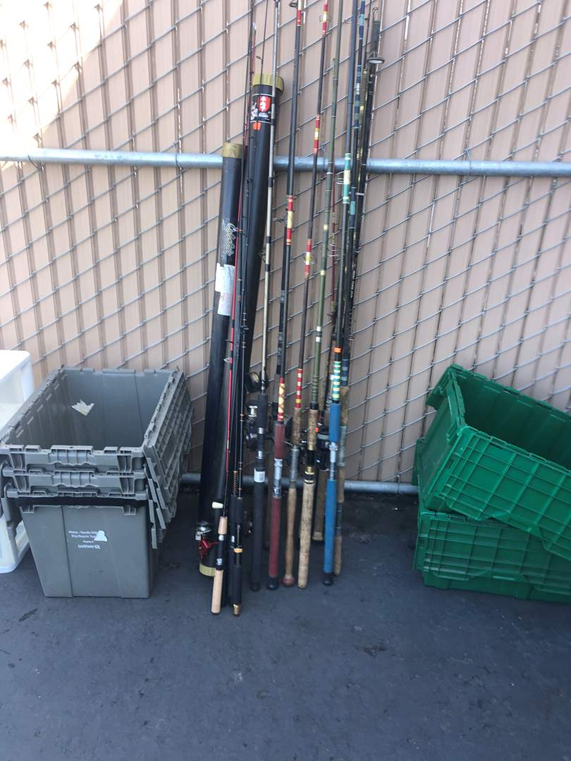 Lot # 90 - FISHING POLES AND REELS (main image)
