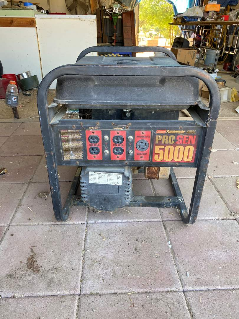Lot # 116 - COLEMAN POWERMATE GAS GENERATOR 120 / 240 (main image)