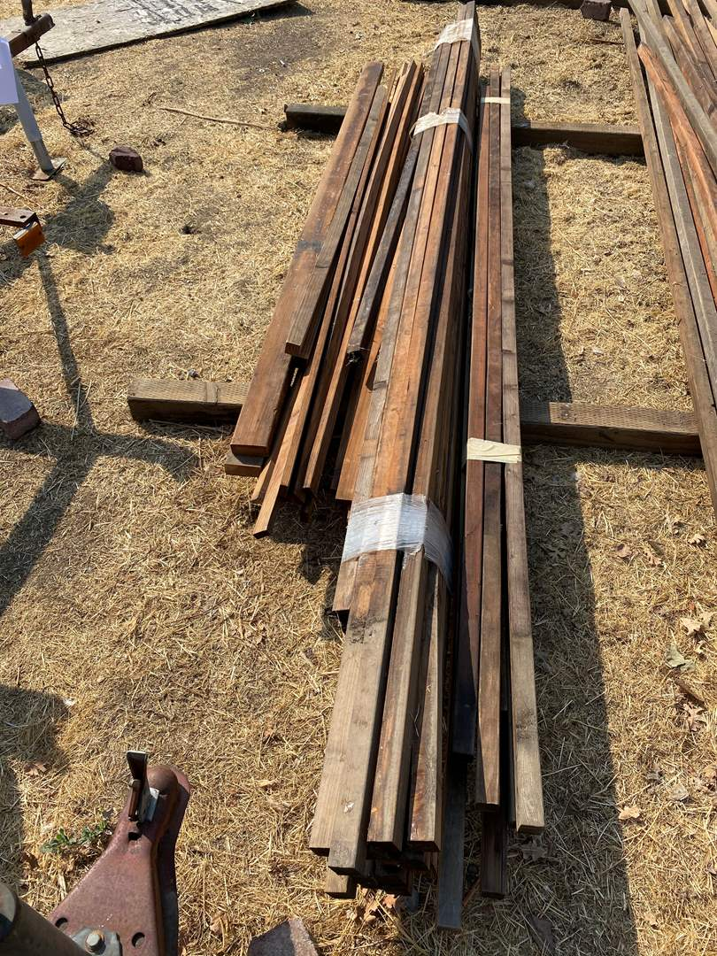 """Lot # 127 - APPROXIMATELY 46 PIECES OF REDWOOD MOSTLY 2""""x2"""" (main image)"""