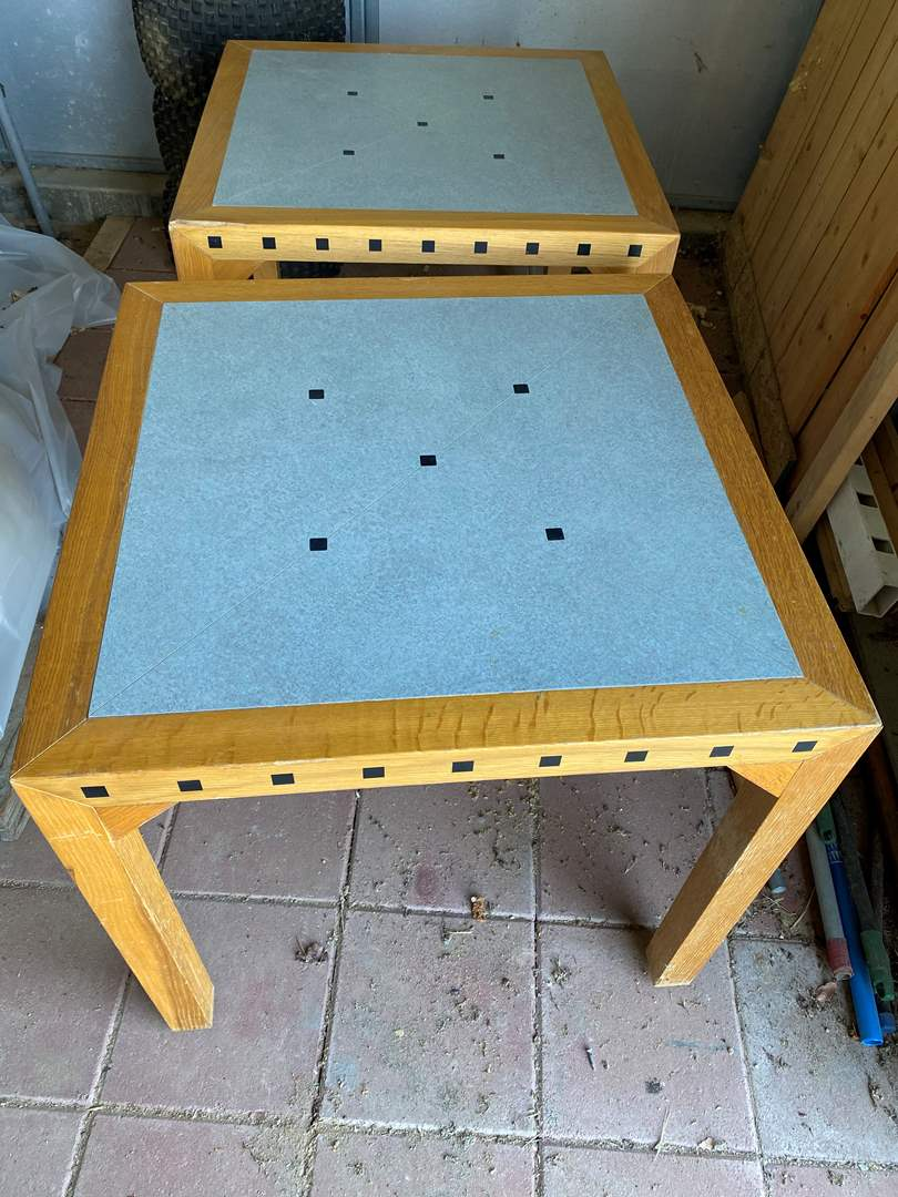 Lot # 158 - MATCHING END TABLES (main image)