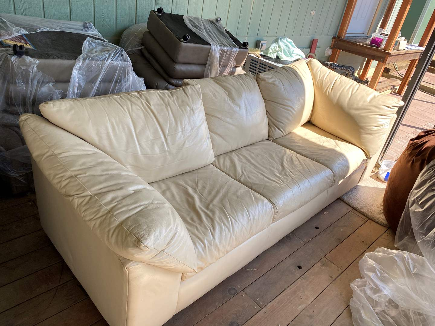 Lot # 180 - LEATHER COUCH (main image)