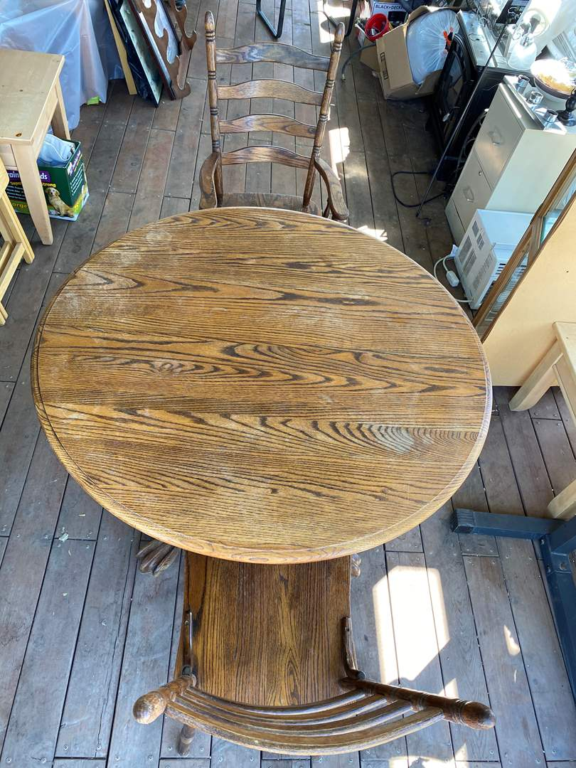 Lot # 192 - TABLE W / 2 CHAIRS (main image)