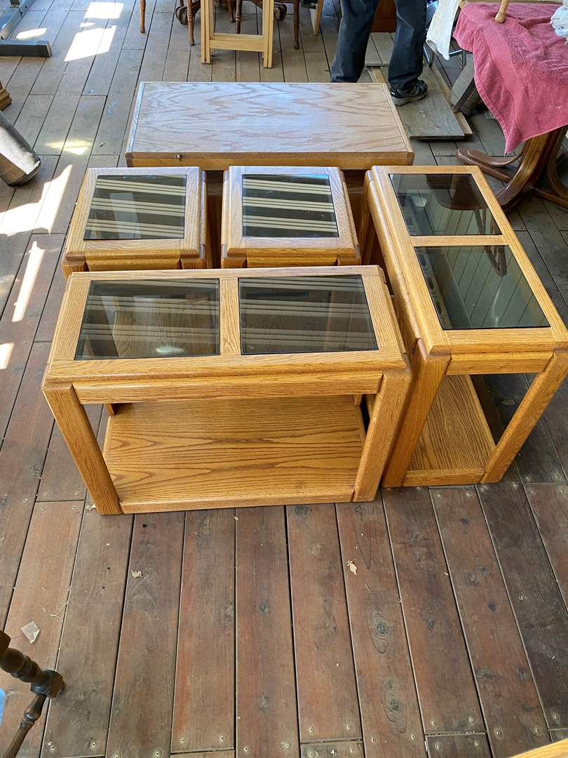 Lot # 194 - MATCHING SET OF TABLES (main image)
