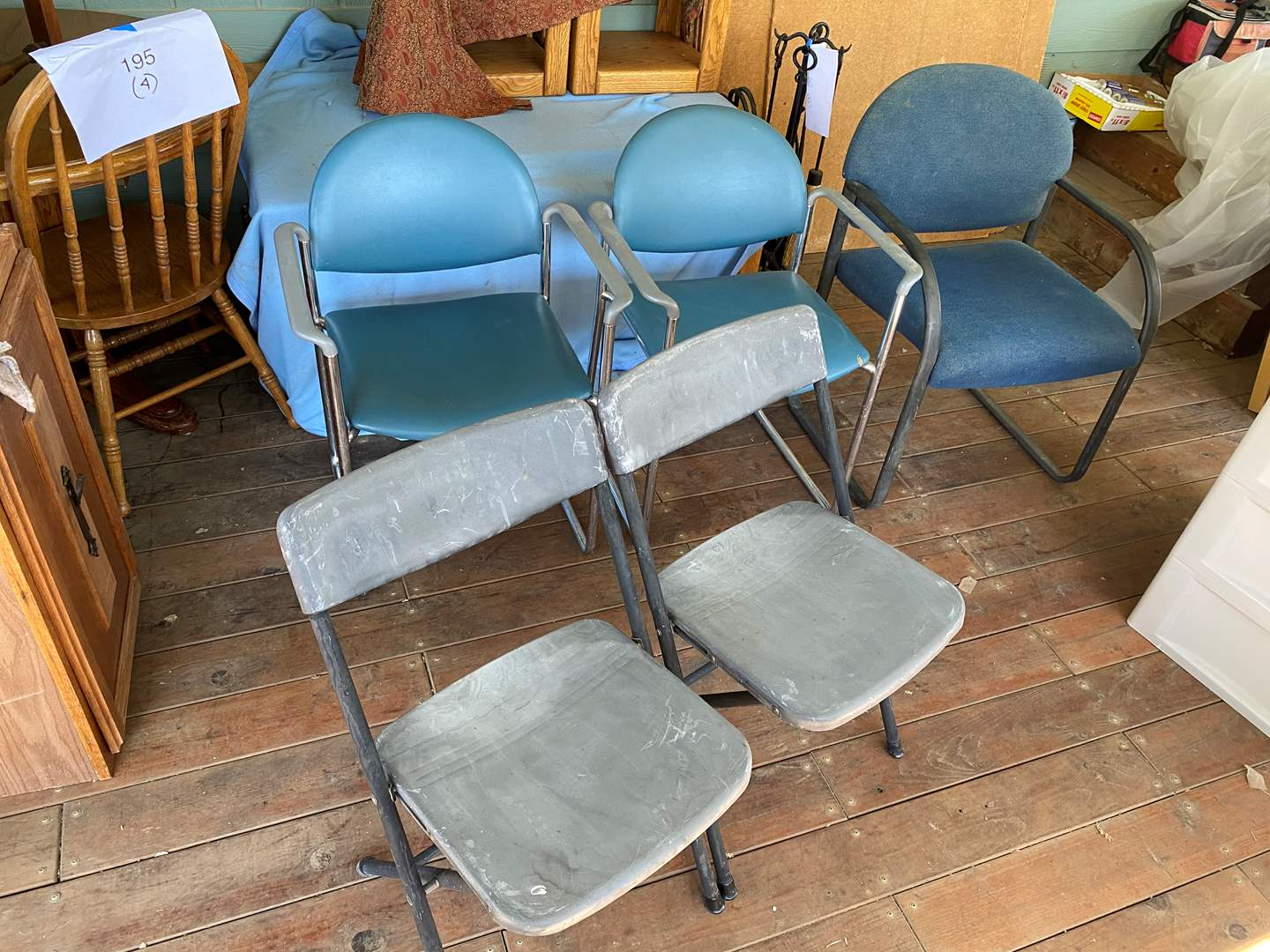 Lot # 210 - 3 OFFICE CHAIRS PLUS 2 FOLDING CHAIRS (main image)