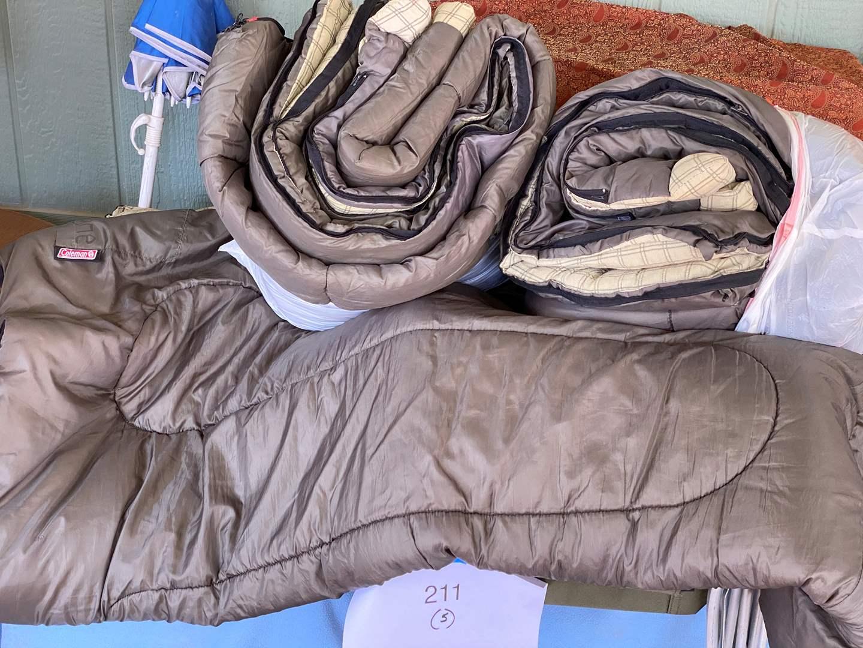 Lot # 214 - SLEEPING BAGS & CAMPING GOODS (main image)