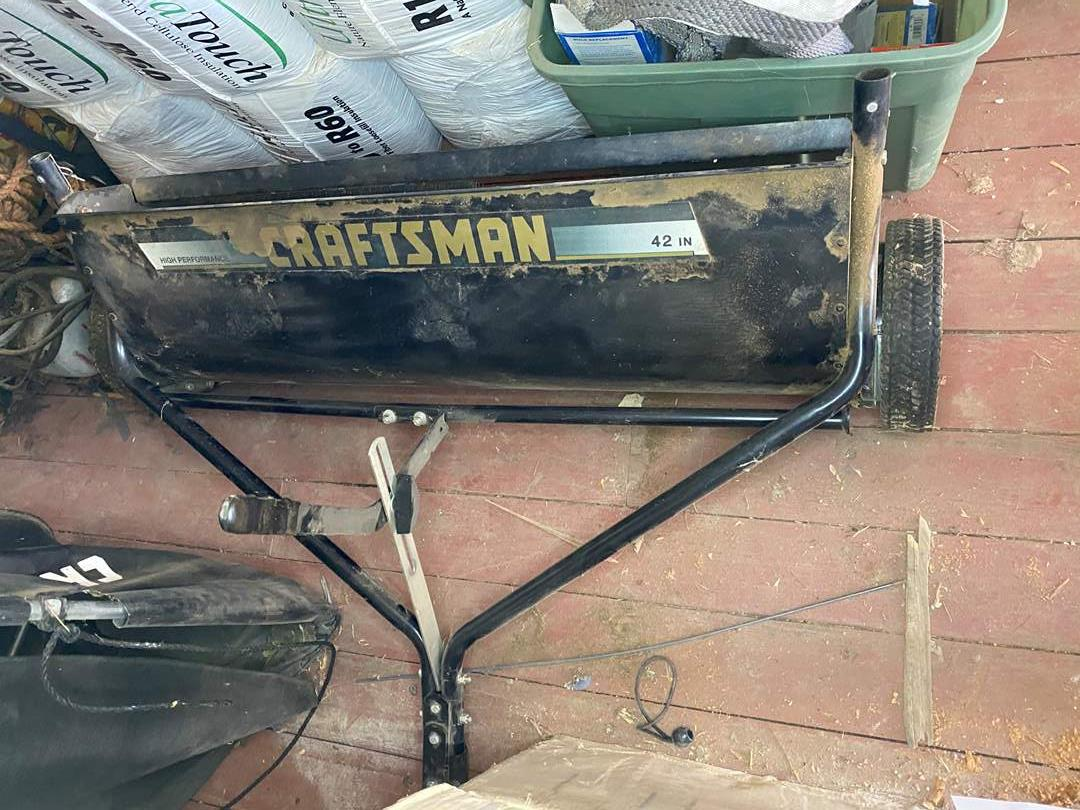 """Lot # 29 - CRAFTSMAN HIGH PERFORMANCE 42"""" SWEEPER WITH CATCH BAG (main image)"""