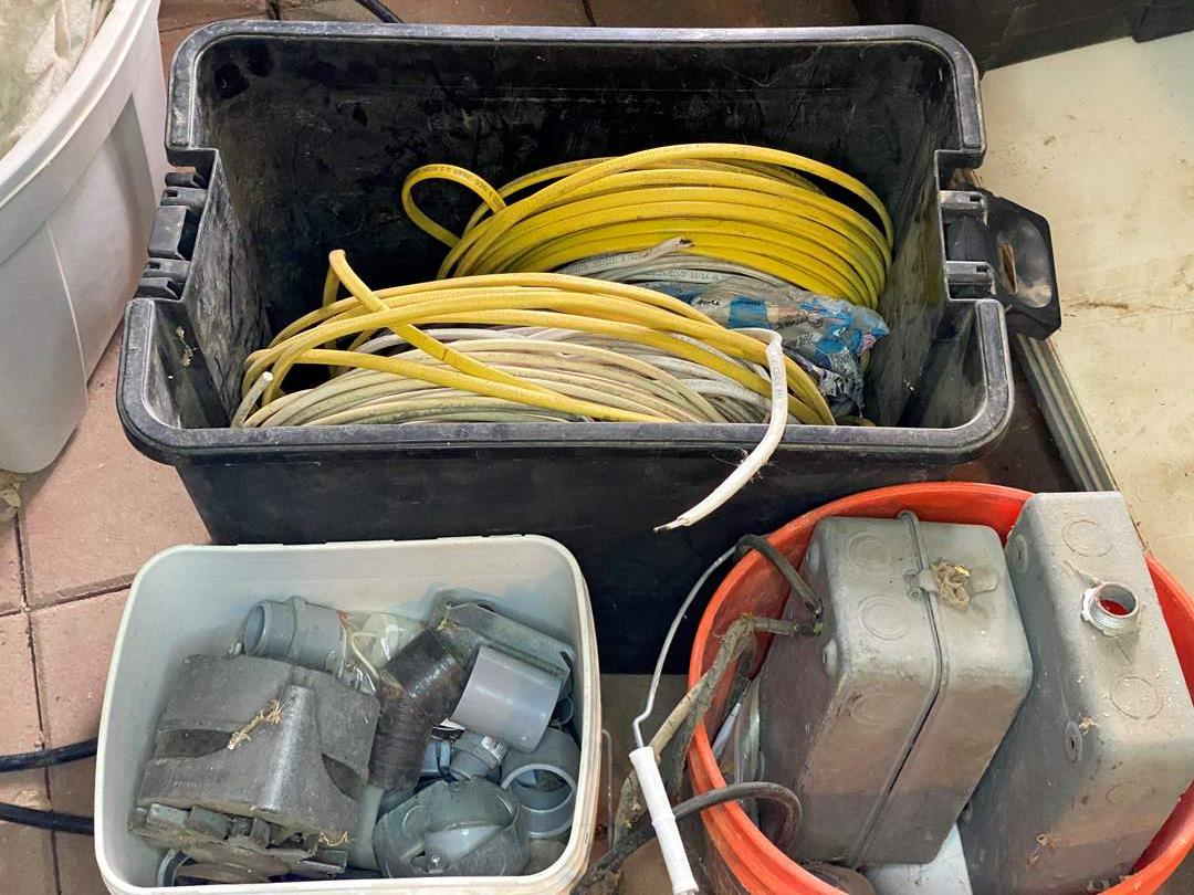 Lot # 296 - ASSORTED ELECTRICAL SUPPLIES & WIRE (main image)