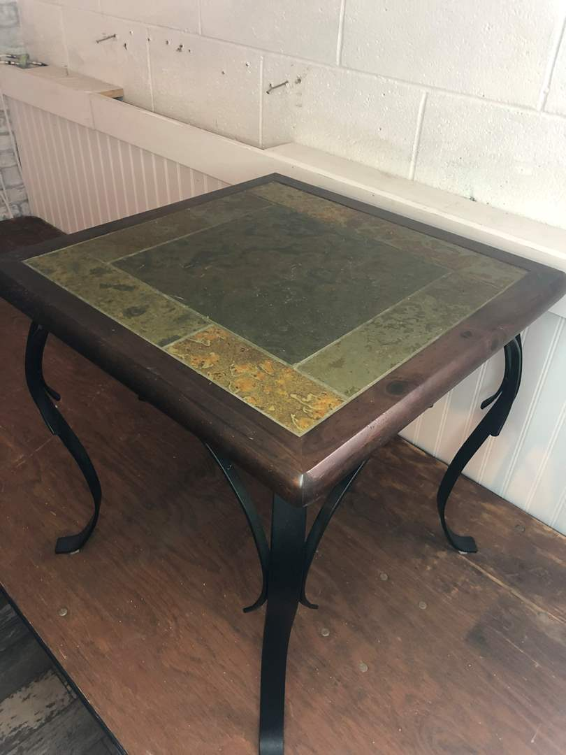 Lot # 13 - PIER ONE TILE TOP TABLE  (main image)