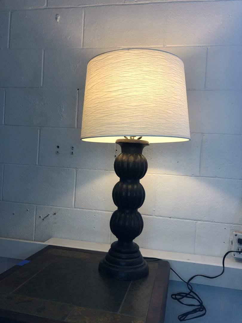Lot # 15 - WOOD LAMP (main image)
