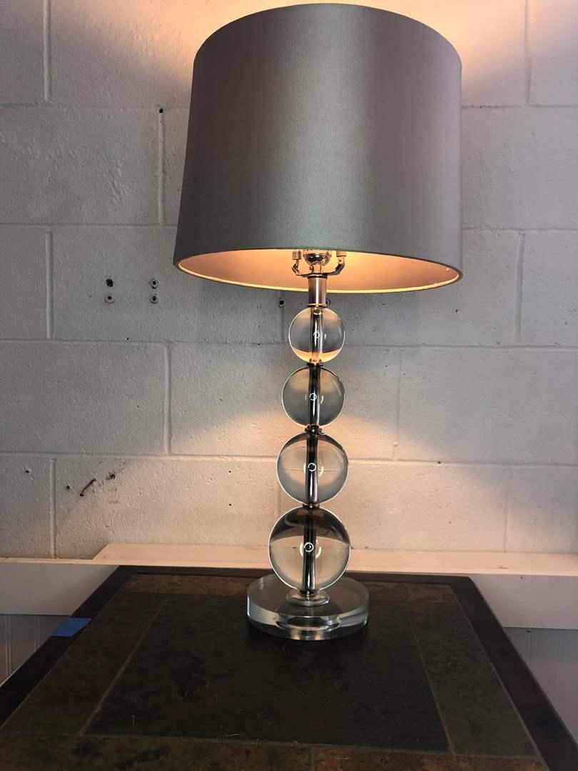 Lot # 16 - MODERN GLASS LAMP (main image)