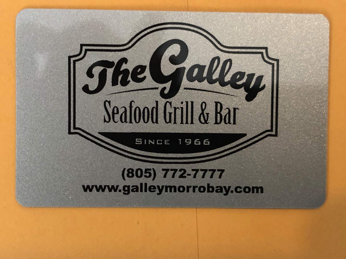 Lot # 103 - THE GALLEY $100 GIFT CERTIFICATE  (main image)