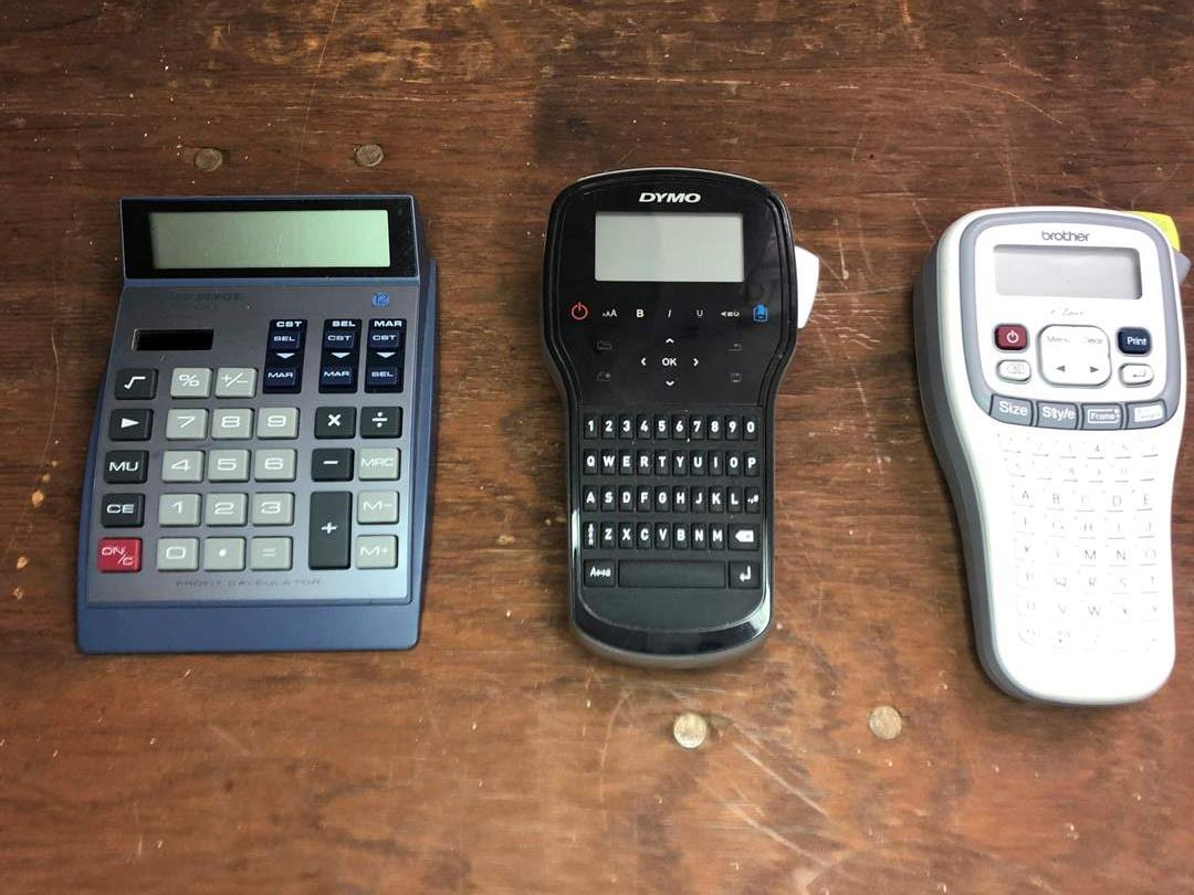 Lot # 60 - LABEL MAKERS AND CALCULATOR  (main image)