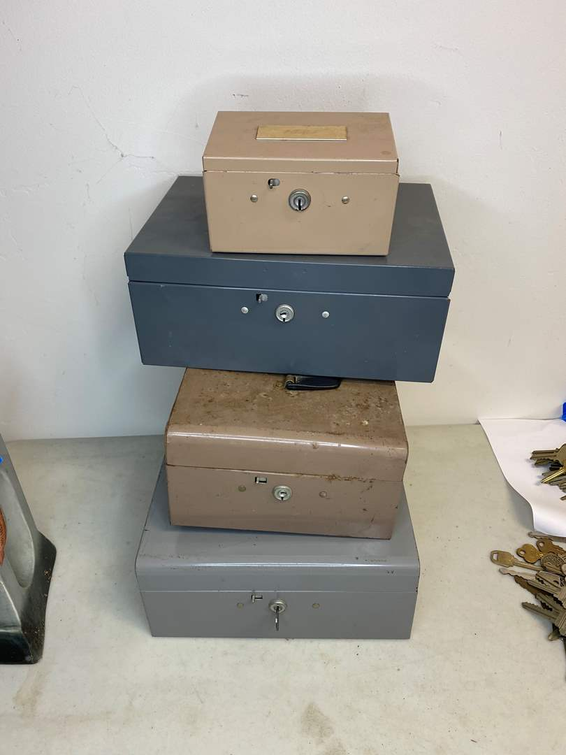 Lot # 18 - FOUR LOCKING BOXES WITH KEY (main image)