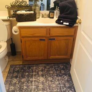 Lot # 16- Bathroom accessories- includes everything in the cabinet!