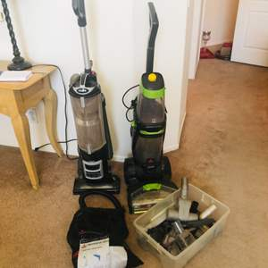 Lot # 17- Shark vacuum and Bissell Pet Pro Heat 2X Revolution- works great