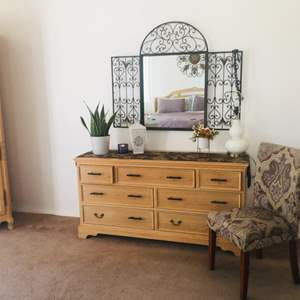 Lot # 24- French style dresser + furniture