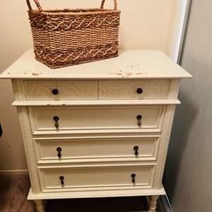 Lot # 25- Vintage Rustic white dresser