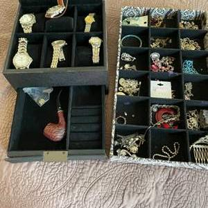 Lot # 27- Watch collection, pipe + more!