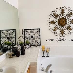 Lot # 33- Bathroom decor and accessories!