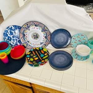 Lot # 44- It's party time! Platters, plates and more!