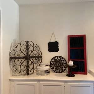 Lot # 76- Lovely decor, including a floating shelf!