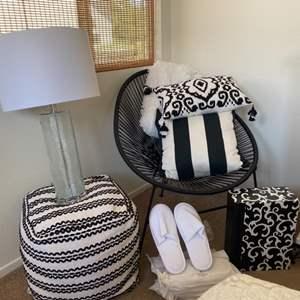 Lot # 88- Modern black and white bedroom setup