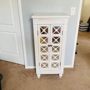 Lot # 99- Beautiful, white jewelry armoire