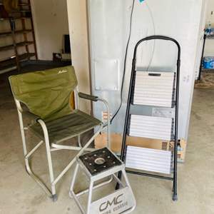 Lot # 124- Garage extras! Tools and more!