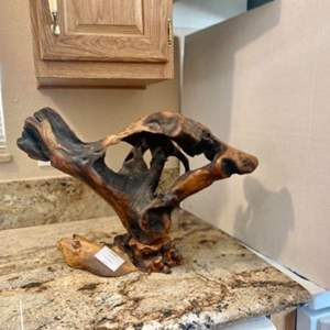 Lot#12- Sculpture Made From Oak and Buckeye Wood