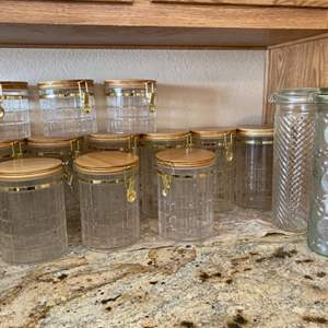 Lot#24- Gorgeous Glass Canisters