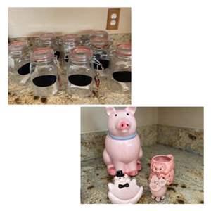 Lot#29- Brand New Storage Jars + More!