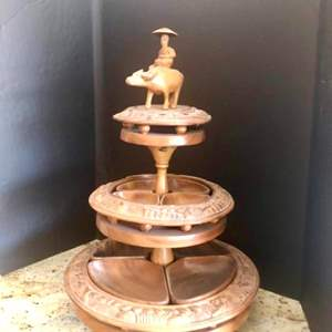 Lot#30- Check Out The Beautiful, Intricate Detail On This Handcrafted Serving Display!