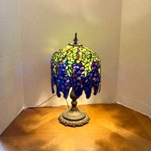 Lot#39- Another Gorgeous, Stained Glass Lamp