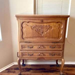 Lot#41- Intricate, Vintage Buffet Table