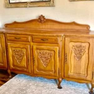 Lot#44- Antique, 2-Piece Buffet Table