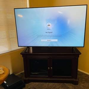 """Lot#57- 65"""" Samsung Smart T.V. With Stand + More!"""
