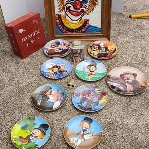 Lot#67- Clown Collectors Lot- Includes Red Skelton Limited Collectors Plates!