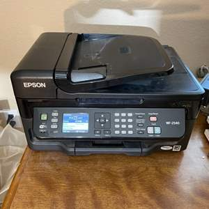 Lot#104- Must-Have Office Finds! Epson Printer & Side Table