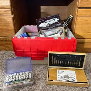Lot#105- Men's Crafting  Kit- Woodworking tools