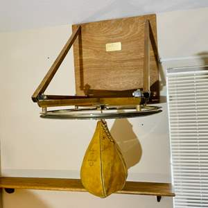 Lot#106- 1920 Speed Bag with Wood Holder!