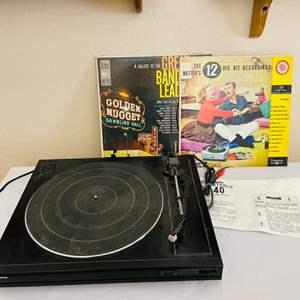Lot#113- Mitsubishi Record Turn Table DP-40 and More!